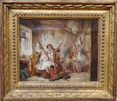 Backstage at the Theatre Royal an Oil Painting by Abraham Solomon