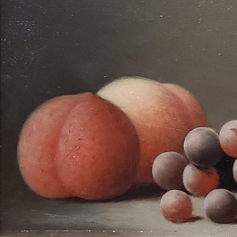 Still life Oil Painting of peaches and grapes by Barton Hays 2