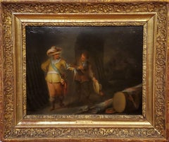 Old Master Oil Painting of An Armory Inspection by Franz de Paula Ferg