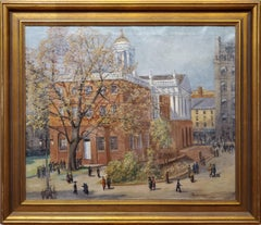 View of the Old State House in Hartford, Connecticut circa 1920