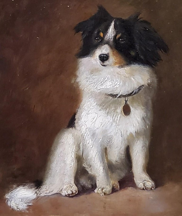 Oil Painting of a Dog by R Hendschel For Sale 2