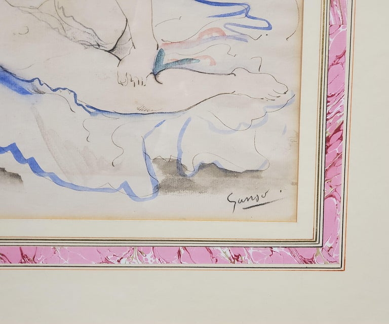 A Female Nude Watercolor Signed By Emil Ganso For Sale 3