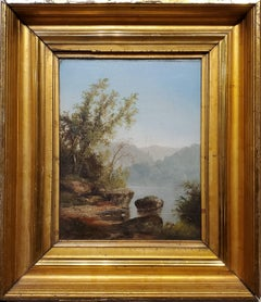 New Hampshire Landscape Painting Attributed to John WA Scott
