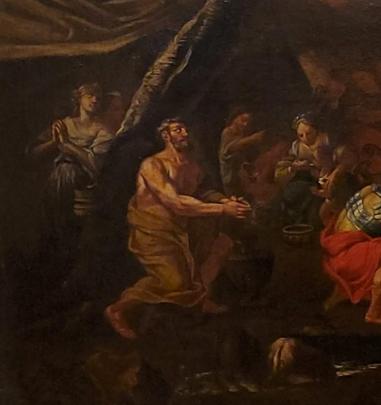 Old Masters Painting of Moses Striking the Rock,  Follower of P. F. Mola For Sale 3
