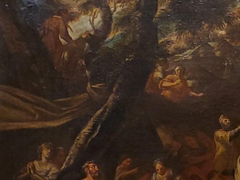 Old Masters Painting of Moses Striking the Rock,  Follower of P. F. Mola For Sale 4