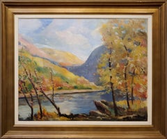 Impressionist Landscape View of the Delaware River Valley In Autumn