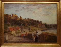 Landscape View of Knaresborough Yorkshire United Kingdom in the 19th Century