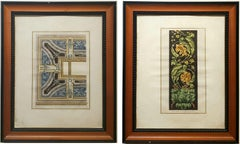 Framed Pair of Architectural Engravings made After Giocondo Albertolli