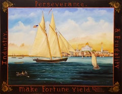 Industry Perseverance and Frugality Make Fortune Yield Seaside Folk Art