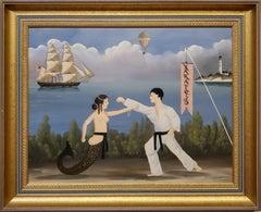 Karate-Do is a Mermaid In A Karate Duel by Ralph Cahoon Jr.