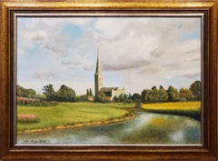 River Leading to the Salisbury Cathedral by L. J. Huggett