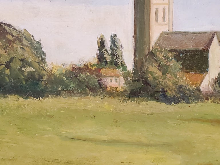 River Leading to the Salisbury Cathedral by L. J. Huggett For Sale 3