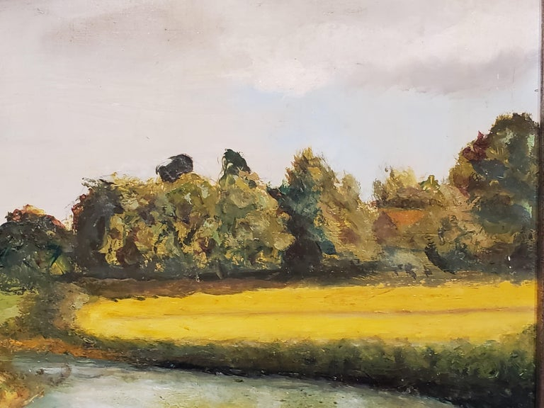 River Leading to the Salisbury Cathedral by L. J. Huggett For Sale 5