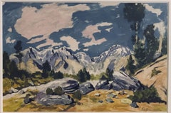 Frank S. Herrmann Mountainous Landscape with Active Sky