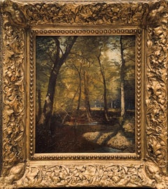 Frank Penfold, Forest Interior Painted in France, fully signed and dated 1889