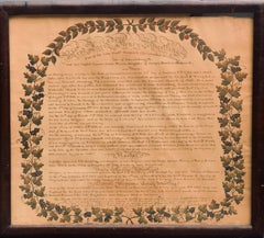 Family Record American Folk Art, dated 1826 Montgomery County, PA