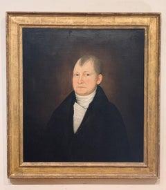 American Portrait of a Gentleman by John Brewster, Jr. Ca. 1800