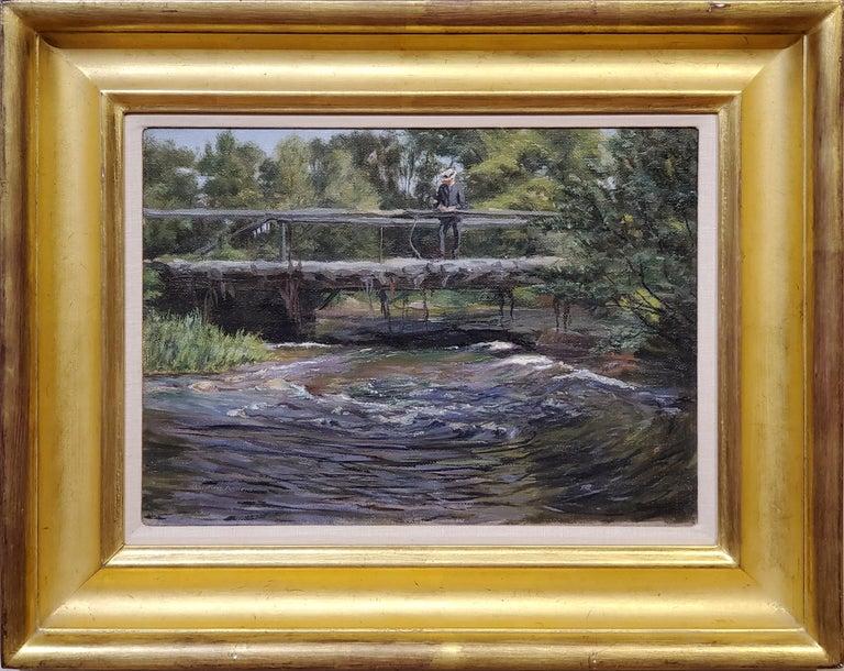 John Winthrop Andrews, American 1879-1964 Impressionist River View - Painting by John Winthrop Andrews