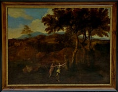 Old Master Painting Landscape Signed by Maximilian Joseph Schinnagl circa 1753