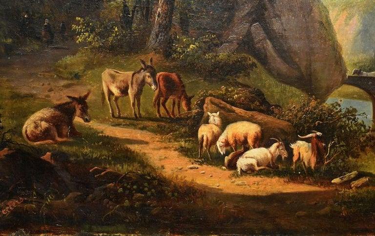 Dutch School Landscape Oil Painting For Sale 2
