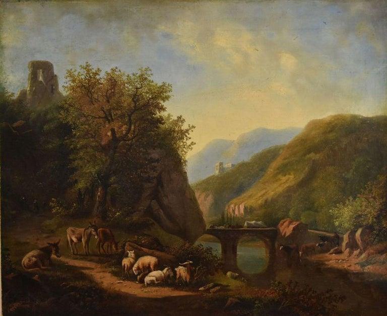 Dutch School Landscape Oil Painting For Sale 1