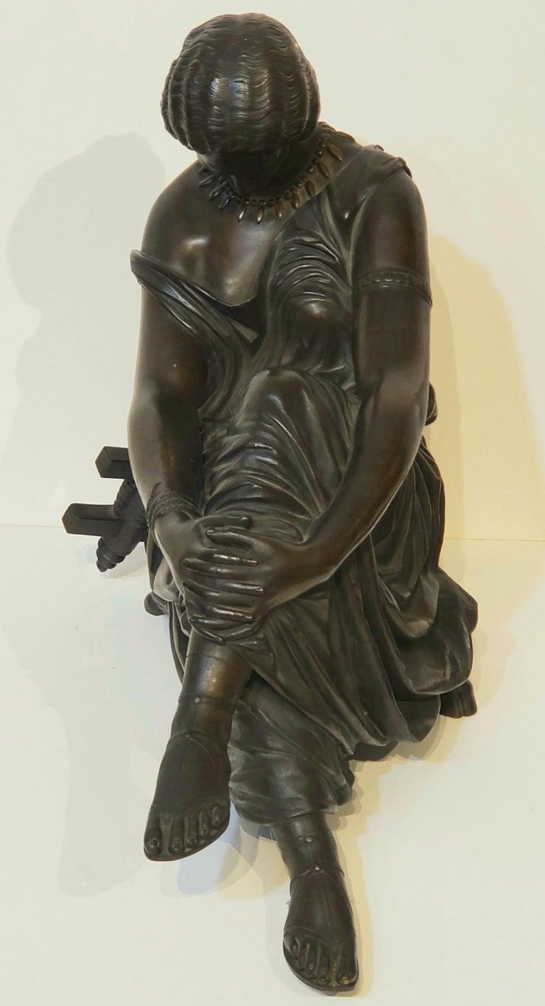 Antique Bronze Sculpture of the Poet