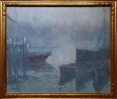 Gloucester Harbor view at Twilight dated 1923