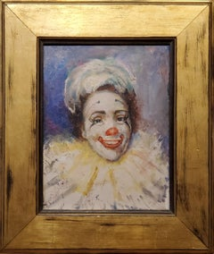 Bright Painting of a Clown