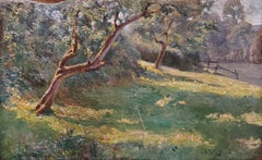 Bright Forest Landscape Oil Painting by Alonzo St. George Huntington