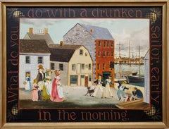 Amusing Genre View of a Sailor at a Port, by Elizabeth Mumford