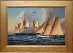 The Hamilton of Norfolk a Sailboat at Sea by Jerome Howes