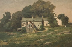 "Bryant Chapin ""The White Farm in Spring"" Landscape circa 1915"