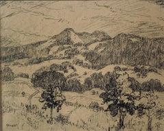 Charcoal Drawing by Albert Lorey Groll, American