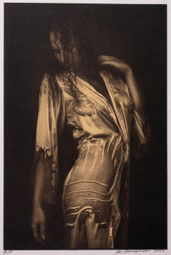 Nathalie - Platinum Palladium print on vellum over 24 carat gold,limited edition