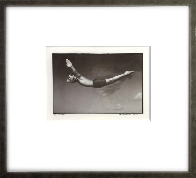 Diver -Platinum Palladium print on vellum over silver, limited edition of 5 - Contemporary Photograph by Ian Sanderson