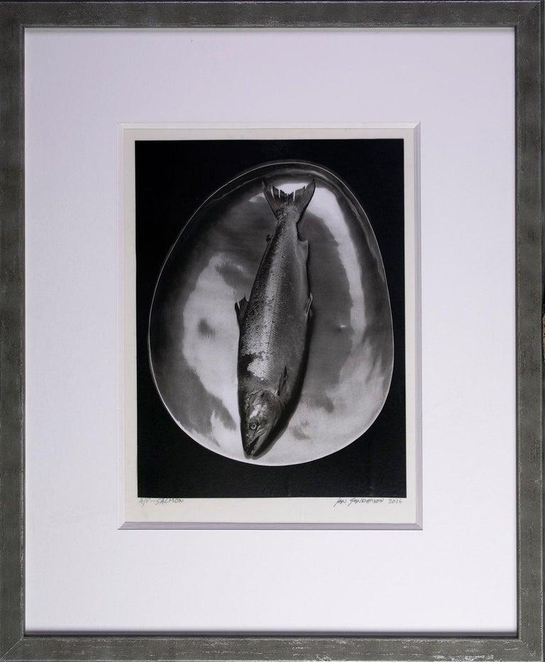 Salmon - Platinum Palladium print on vellum over silver, limited edition, 1985 - Photograph by Ian Sanderson