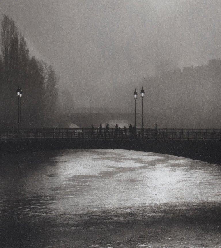 Pont d'Arcole - Platinum Palladium print on vellum over silver, limited edition - Photograph by Ian Sanderson