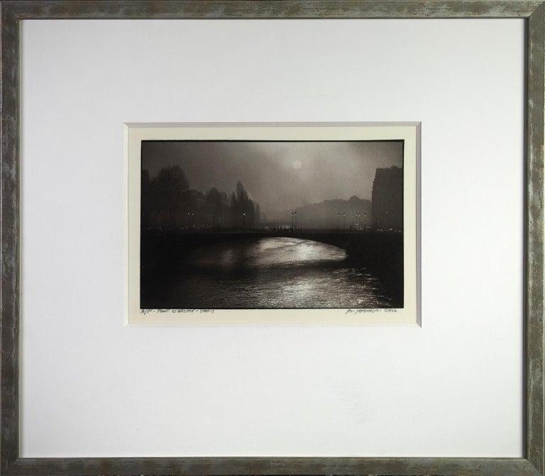 Pont d'Arcole - Platinum Palladium print on vellum over silver, limited edition - Contemporary Photograph by Ian Sanderson