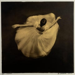 'Vienna' Platinum Palladium print on vellum and 24 carat gold,21st Century,dance