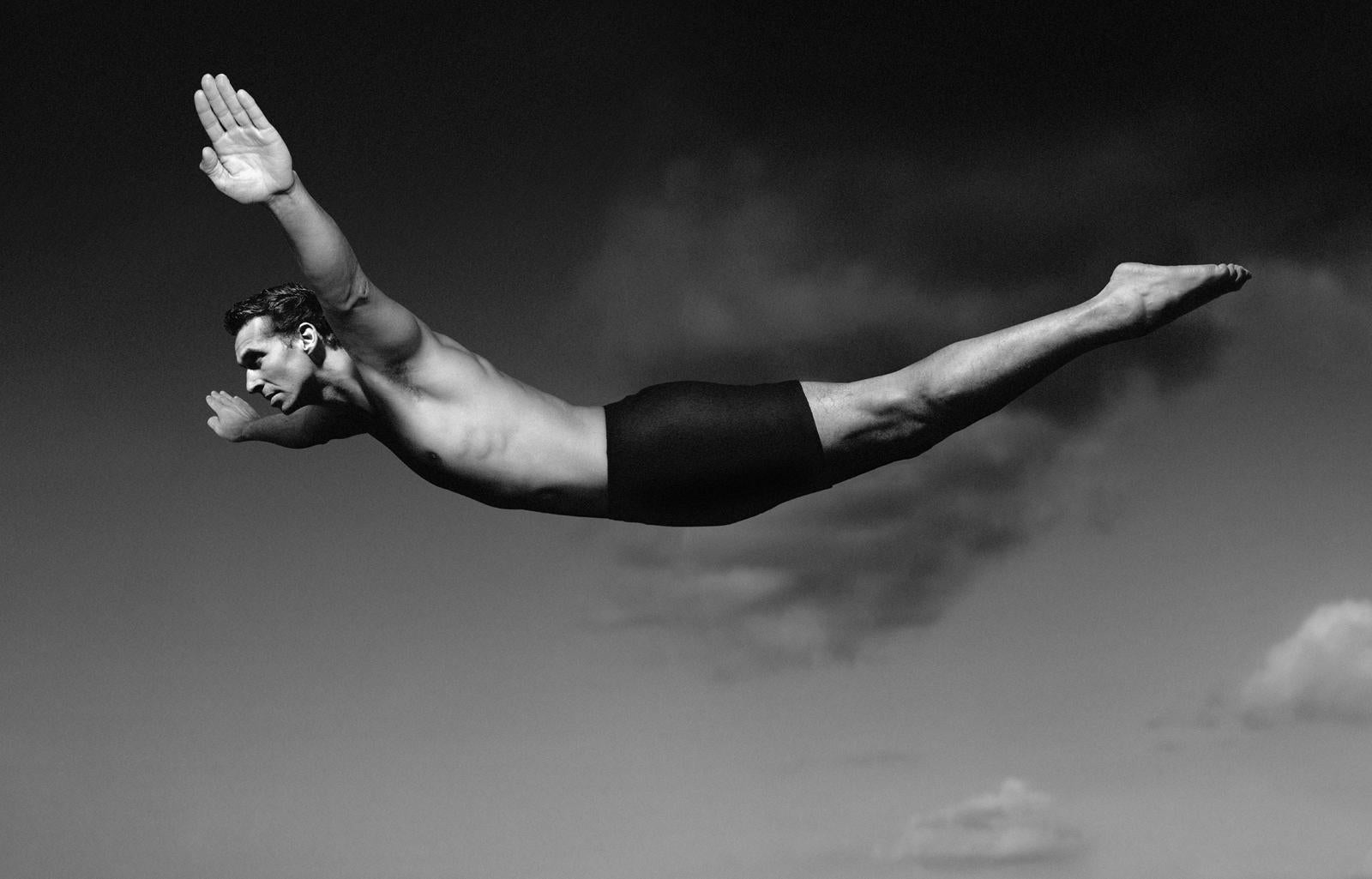 Diver - Signed limited edition fine art print, Black and white photography
