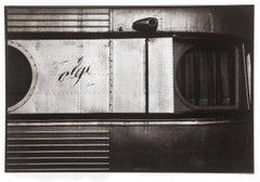 Train - Platinum Palladium print on vellum over silver, Limited edition,vintage