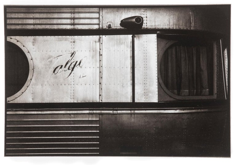 Ian Sanderson Still-Life Photograph - Train - Platinum Palladium print on vellum over silver, Limited edition,vintage