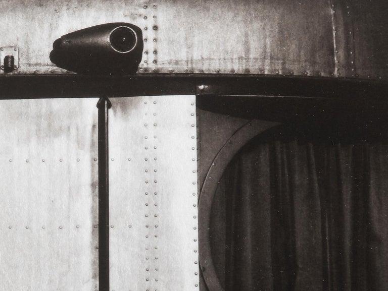 Train - Platinum Palladium print on vellum over silver, Limited edition,vintage - Contemporary Photograph by Ian Sanderson