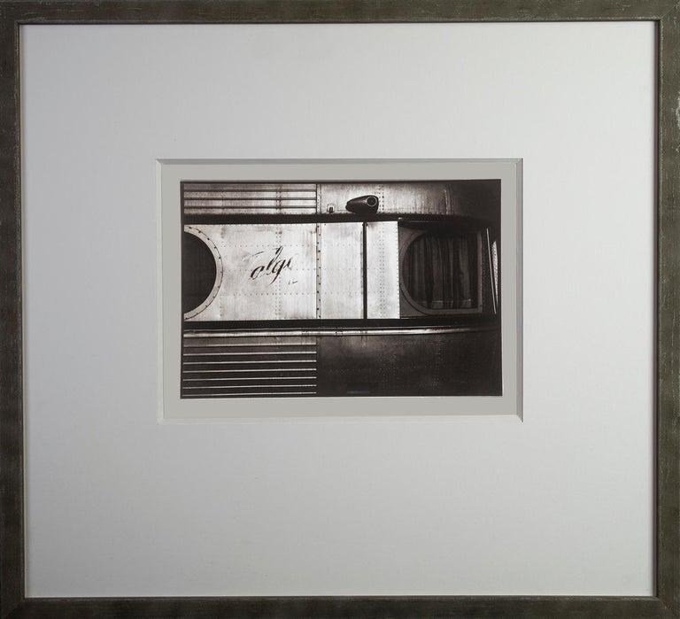 Train - Platinum Palladium print on vellum over silver, Limited edition,vintage - Black Still-Life Photograph by Ian Sanderson