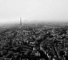 'Paris Panorama'-black and White Photography, 21st Century, Archival Print,city