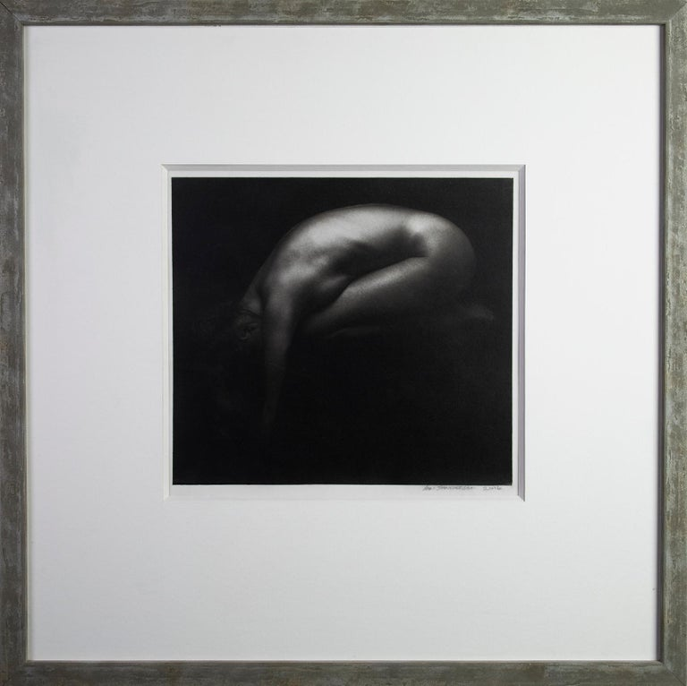 Valérie -Platinum Palladium print on vellum over silver, Nude,Fine art, Sensual - Contemporary Photograph by Ian Sanderson