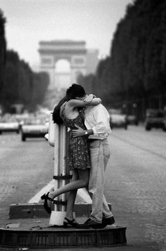 Paris Romance-Signed limited edition fine art print,Black and white photo,Analog