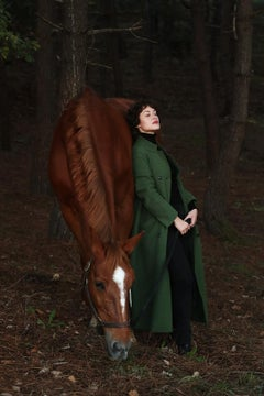 'Utopia' - Signed limited edition print, Color photography,Horse with an actress