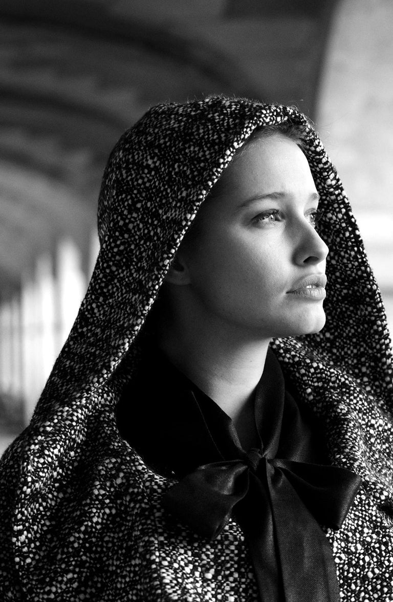 'Lila' - Signed limited edition print, Black and white photography, Actress - Photograph by Laurent Campus