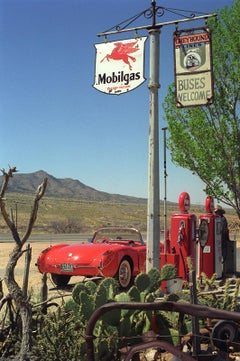 Corvette in the desert - Signed limited edition archival pigment print, USA